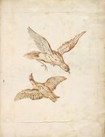Two Birds In Flight; Verso: Swan