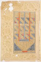 Colophon (Text, Recto), Folio From A Manuscript Of The Shahnama By Firdawsi