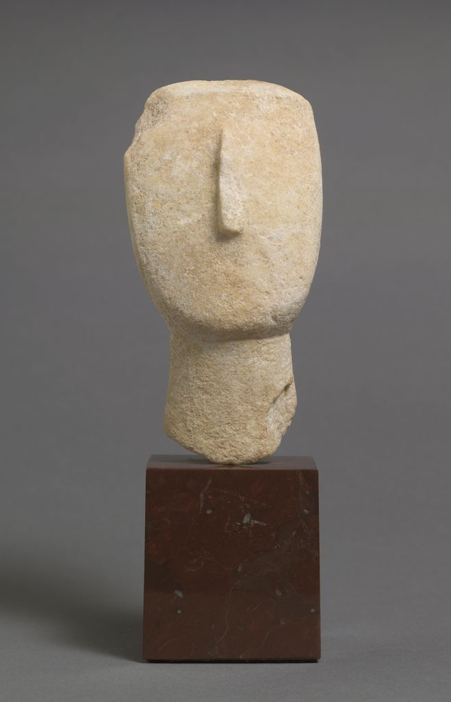 Head Of A Female Figure Of The Spedos Variety