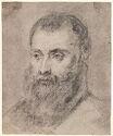 Portrait Of A Bearded Man; Verso: Sketch For A Portrait Of A Bearded Gentleman