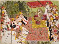 Darbar Of Maharaja Kisor Singh (?)