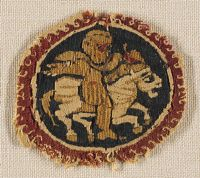 Tapestry Roundel With Eros And Horse