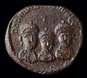 Solidus Weight (Exagion) With Busts Of Three Emperors And Moneta