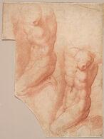 Studies of a Bound Nude Figure