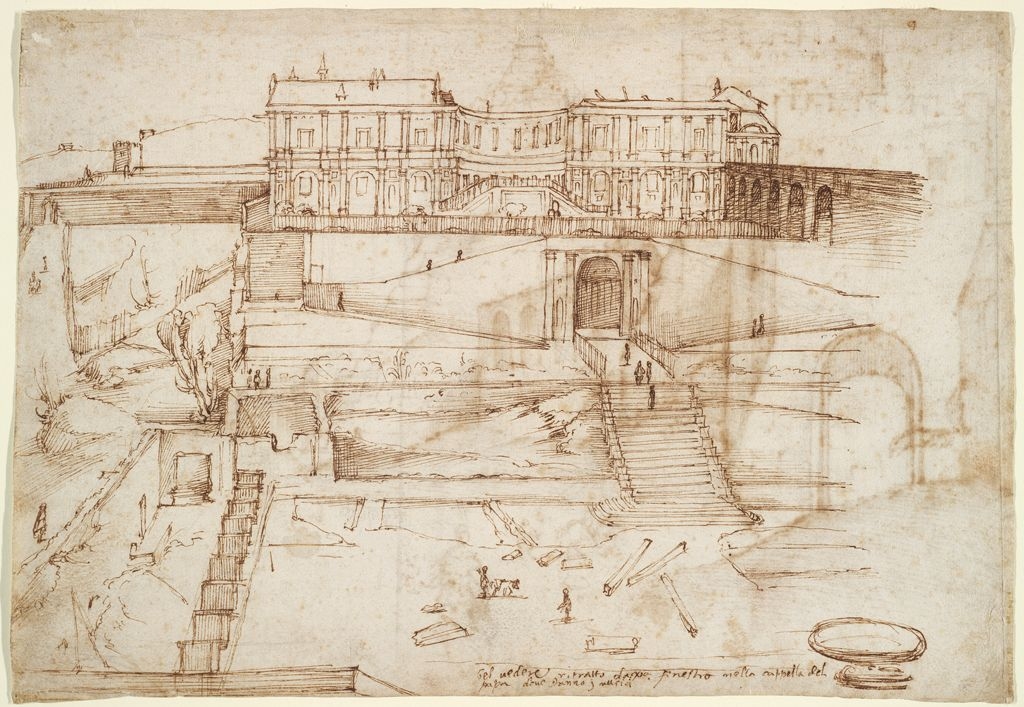From the harvard art museums collections the cortile del for Disegni del mazzo del cortile