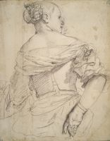Figure Of A Woman Seated With Her Back Turned (Study For The Eritrean Sybil)