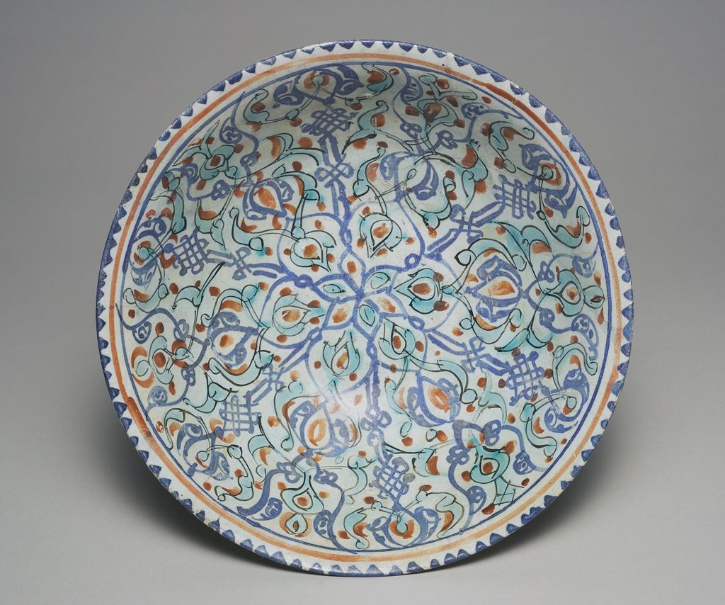 Bowl With Radial Design