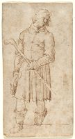 Man With A Staff, Copy After The Engraving