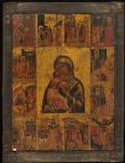 The Virgin of Vladimir with Twelve Scenes from the Legend of the miracles of the Icon of the Virgin of Vladimir