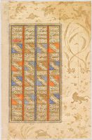 The Story Of Rustam And Bahman (Text, Recto And Verso), Folio From A Manuscript Of The Shahnama By Firdawsi