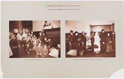 Races, Immigration: United States. New York. New York City. Immigrant Station: Regulation of Immigration at the Port of Entry, United States Immigrant Station, New York City..   Social Museum Collection