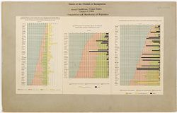 Races, Immigration: United States. Extent of the Problem of Immigration, Social Conditions, United States, Census of 1900, Composition and Distribution of Population.   Social Museum Collection