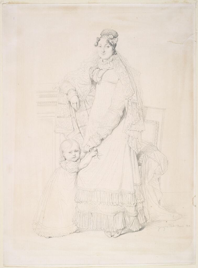 Portrait Of Mme. Augustin Jordan And Her Son Gabriel