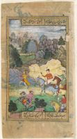 The Poet's Journey (Painting, Recto; Text, Verso), Folio 198 From A Manuscript Of The Divan Of Anvari