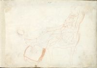 Young Lady Seated In A Fauteuil; Verso: Composition Study