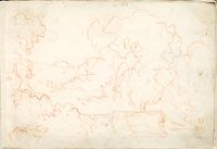 Landscape; Verso: Landscape With An Equestrian Statue