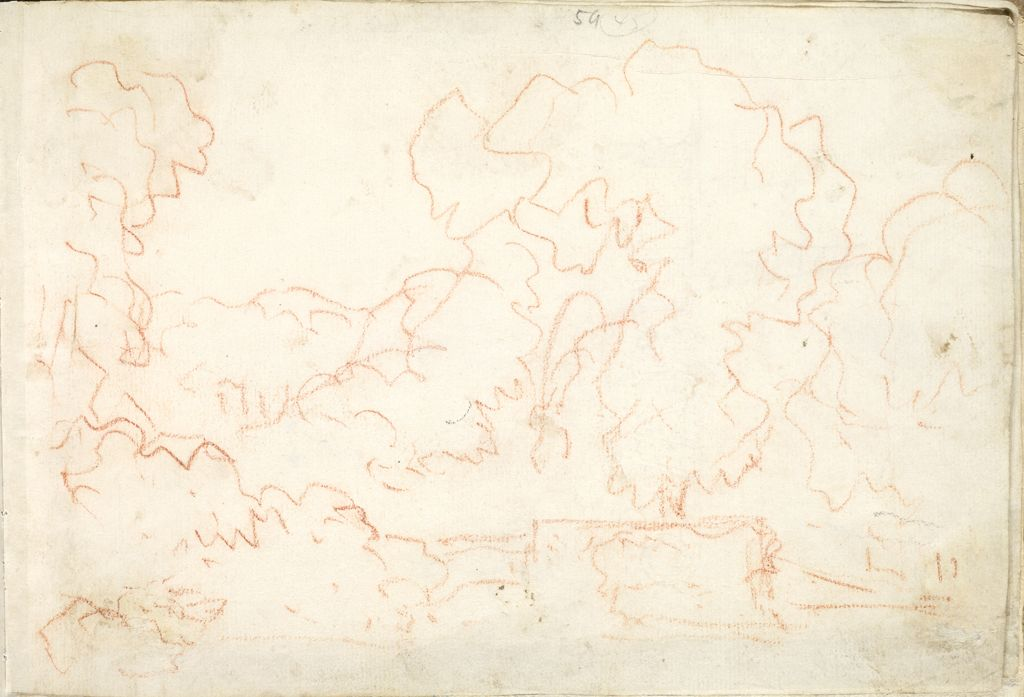 Landscape; Verso: Landscape With An Equestrian Statue