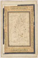 Two Eminences Observed, Folio From An Album