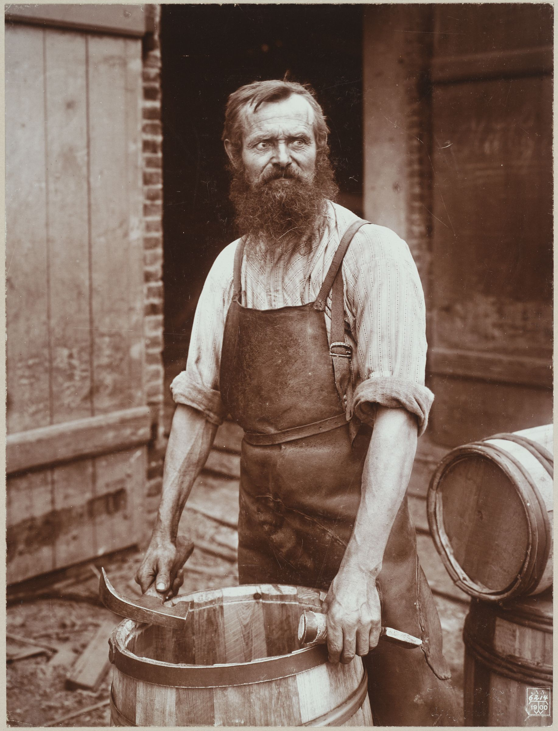 Industrial Problems, Types Of Working People: Germany. Blacksmith; Cooper; Boiler-Maker; Stonedresser; Toy-Maker; Washwomen; Marketwomen: Types Of German Workmen: Cooper.