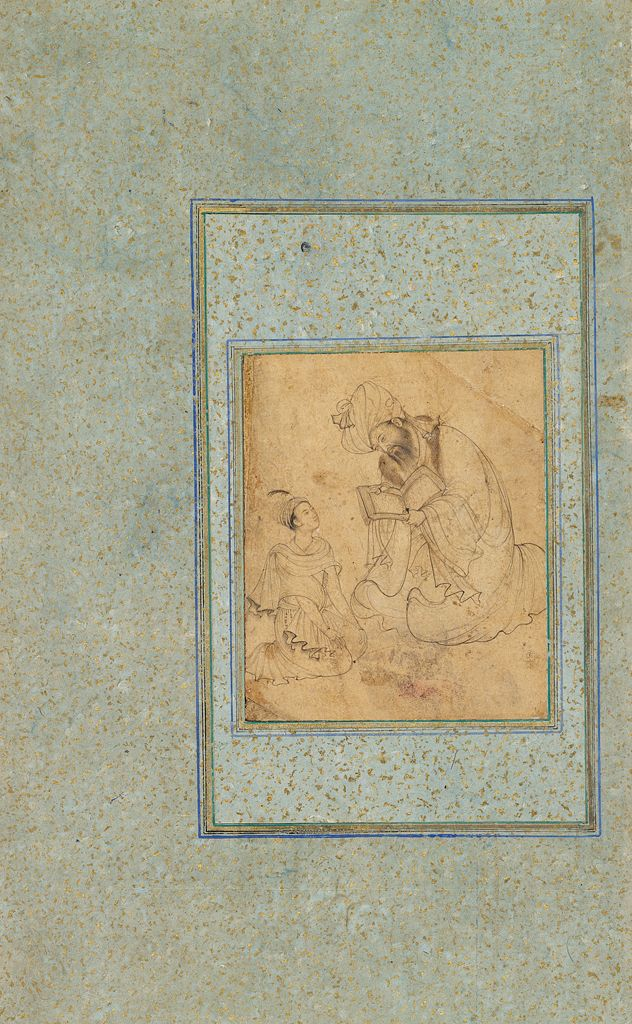 Master And Pupil (Perhaps Prince Salim, Later Emperor Jahangir, With His Tutor)