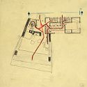 Lorant Residence, Arlington, Vermont, 1942: Sketch Of Plan With Circulation Routes