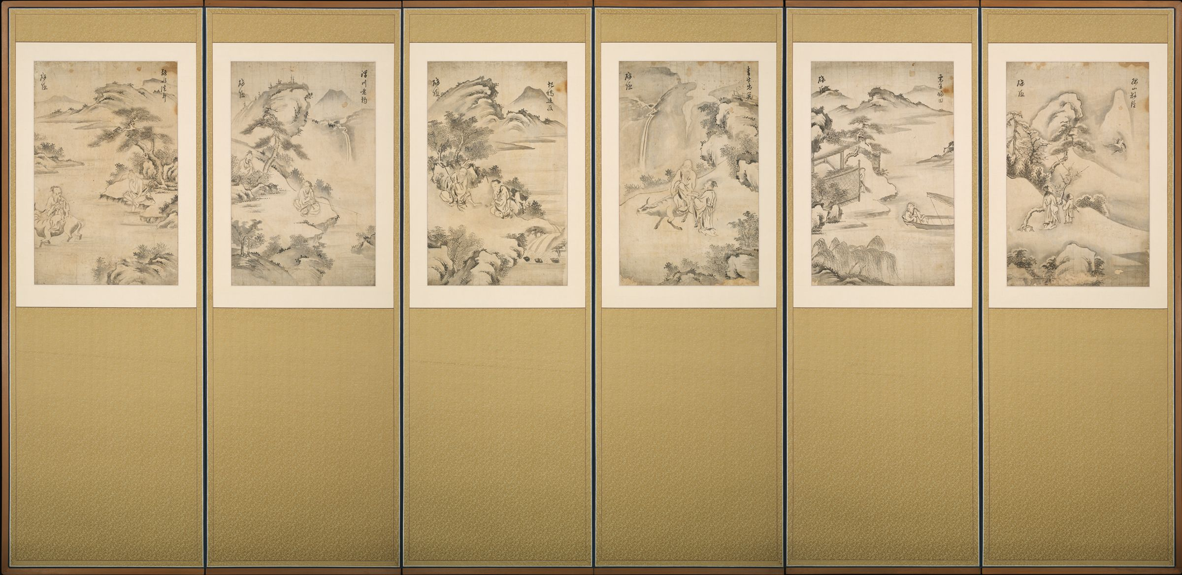 Six Legendary Chinese Sages In Landscapes