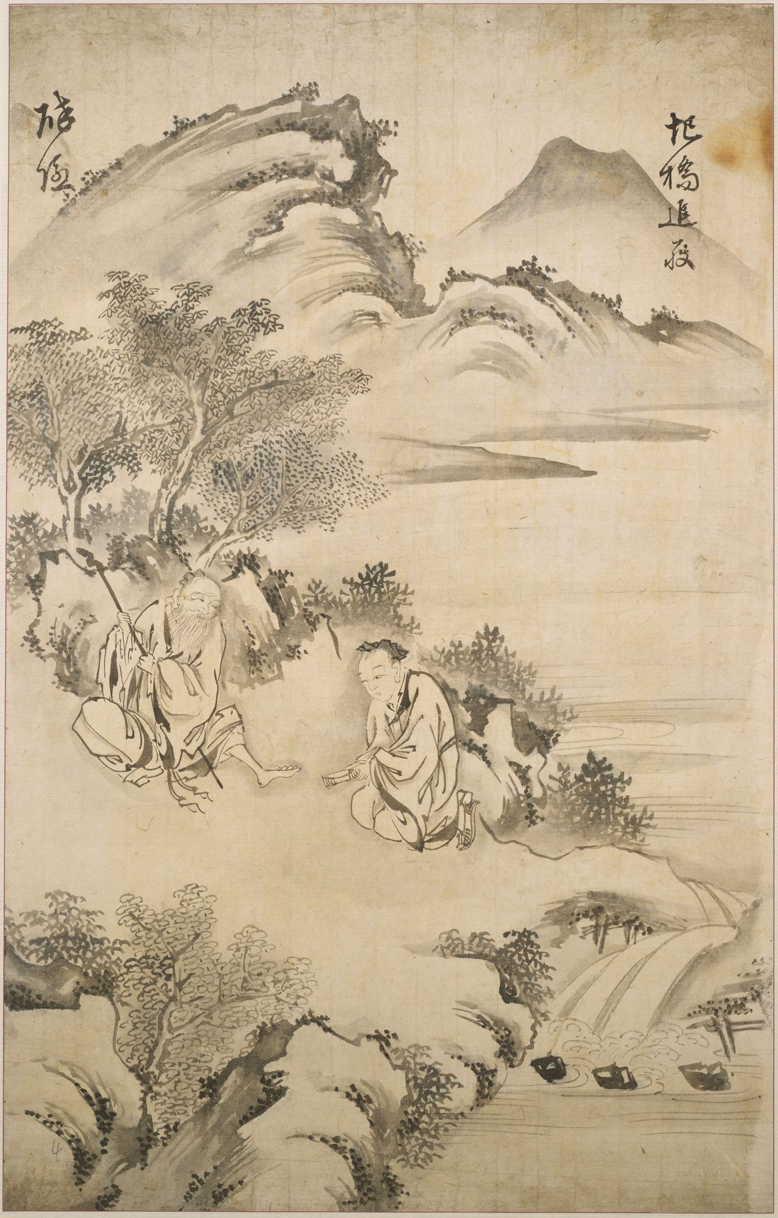 Former Prime Minister Zhang Liang (D. 189 Bc) Presenting The Straw Sandal To The Sage At Yi Bridge