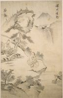 The Sage Jiang Ziya (10Th Century Bc) Fishing In The Wei River, Approached By Wen Wang The Ruler Of Zhou