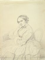Portrait Of Mme Delphine Ingres