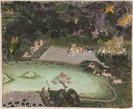 A Kota Ruler as Krishna's Form Brijnathi Hunts by Moonlight