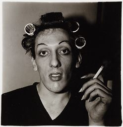A Young Man In Curlers Dressing For An Annual Drag Ball N.y.c. 1966
