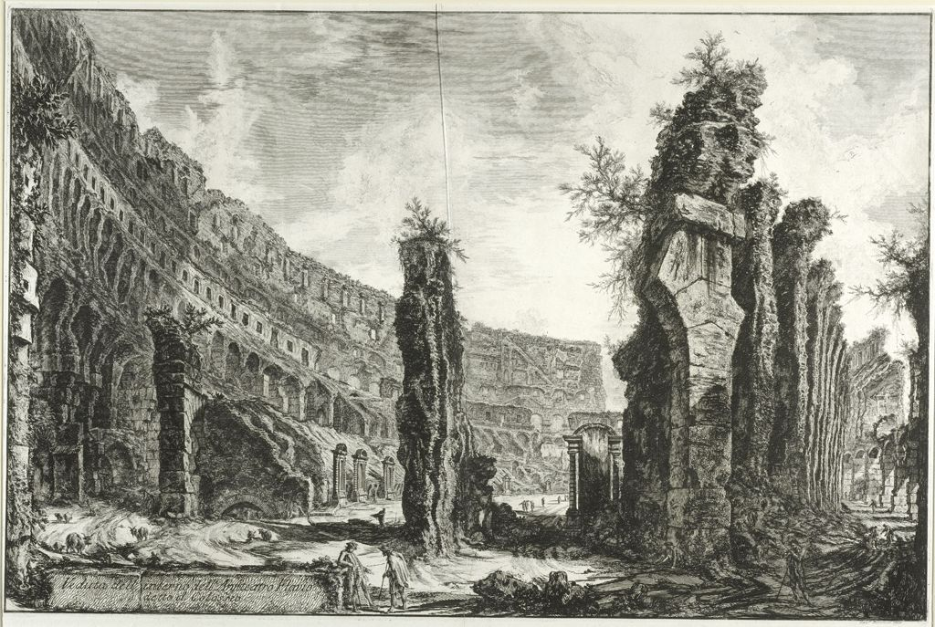 View Of The Interior Of The Flavian Amphitheater, Called The Colosseum