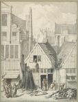 Two Wooden Houses in the Goudsbloemstraat, Burned December 25, 1682