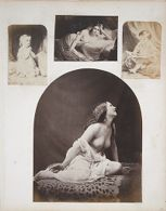Untitled (seated draped nude)