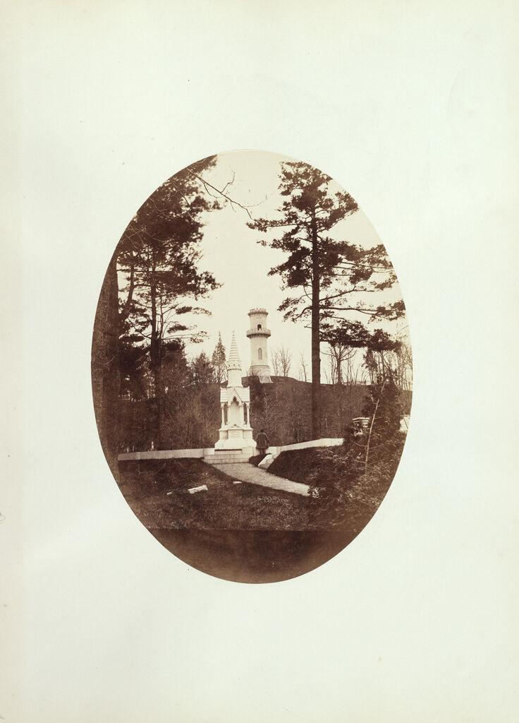 Mount Auburn Cemetery (Scene With Posed Figure)