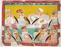 Ravat Jasvant Singh Of Devgarh (R. 1737-76) With His Inner Circle Of Nobles
