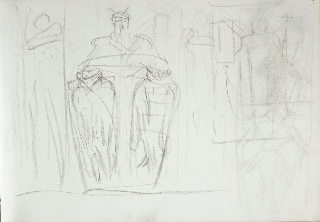 Drawings Studies For Moses Boston Public Library Verso Blank Page