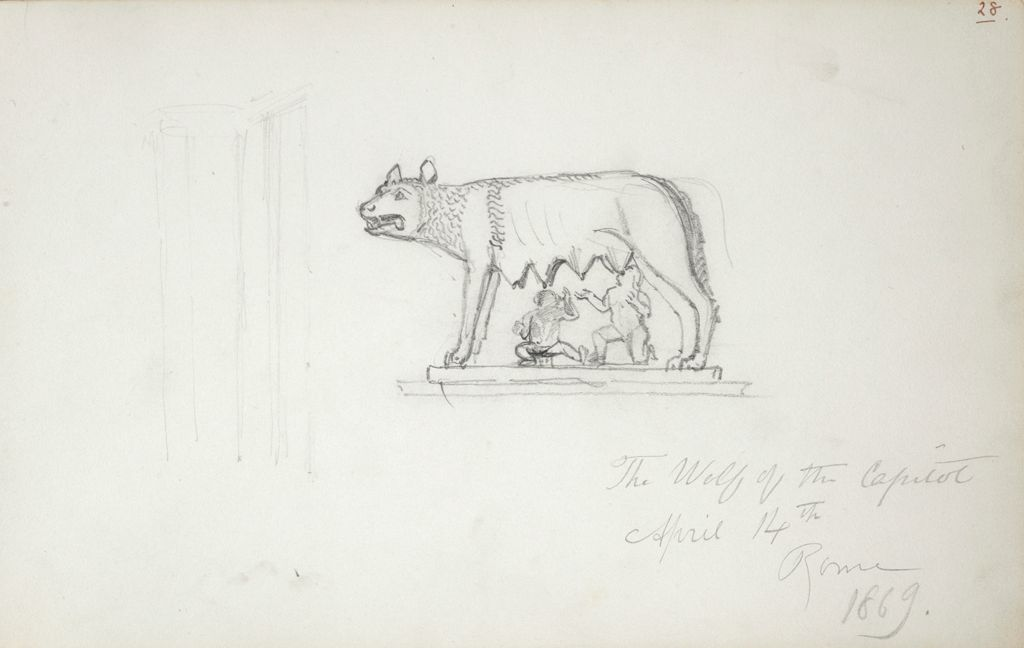 Romulus And Remus With The Wolf, After The Antique; Verso: The Good Shepherd, After The Antique