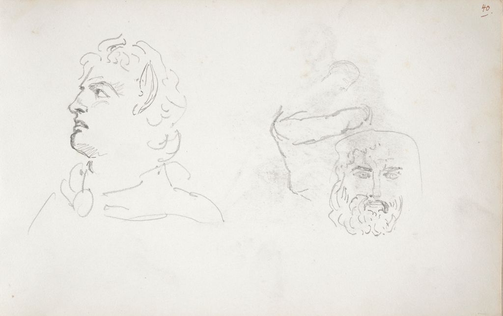 Sketches Of Heads (Recto And Verso)