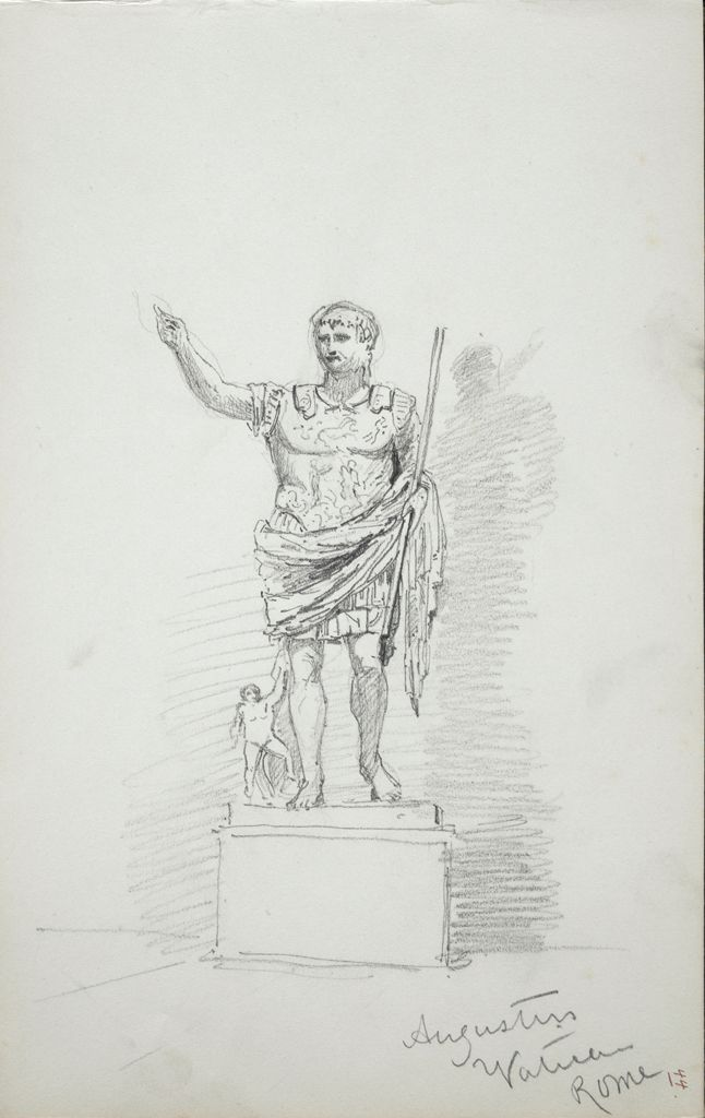 Augustus, After The Antique; Study Of Antique Sculpture
