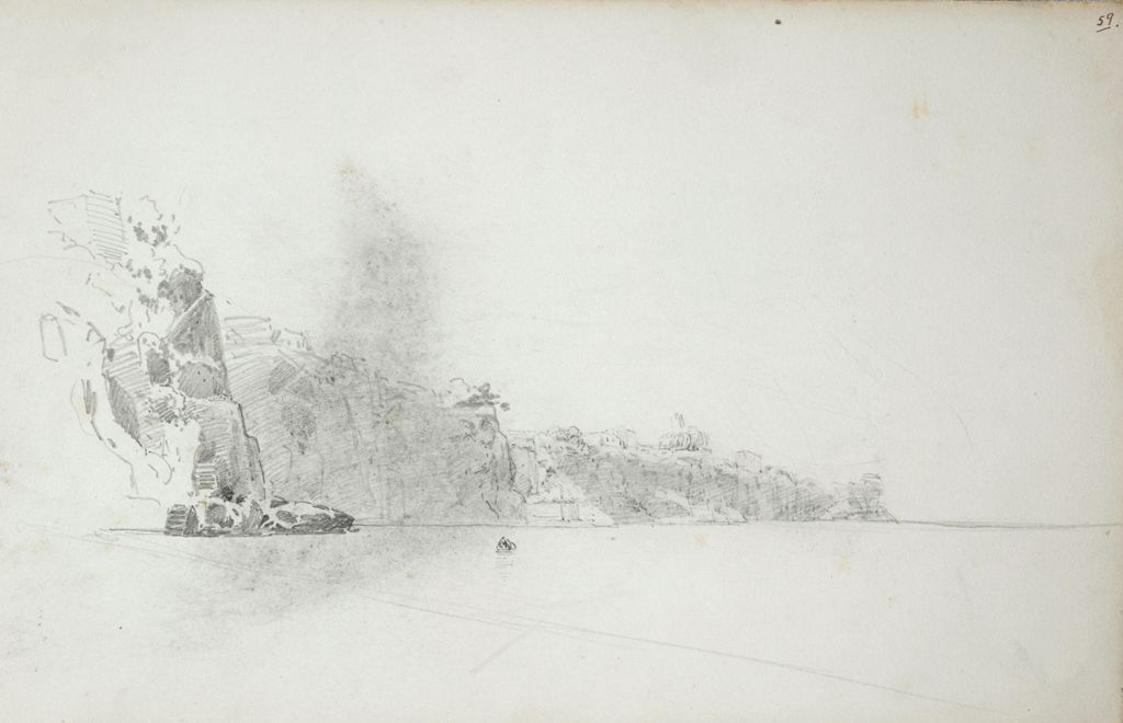 Coastal Study; Verso: Horse And Cart With Villagers; Profile Heads
