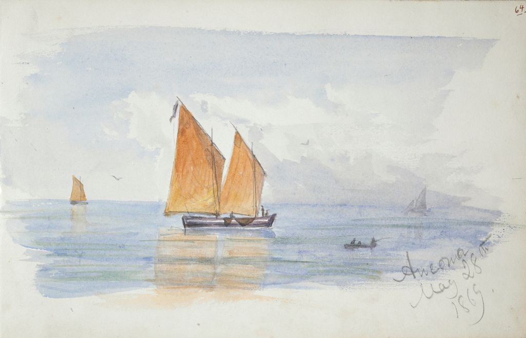 View Of Ancona; Verso: Sketch Of A Sunset