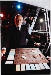 Untitled (Stanley Marcus Of Neiman Marcus With A Chocolate Monopoly Set, Dallas, Texas)