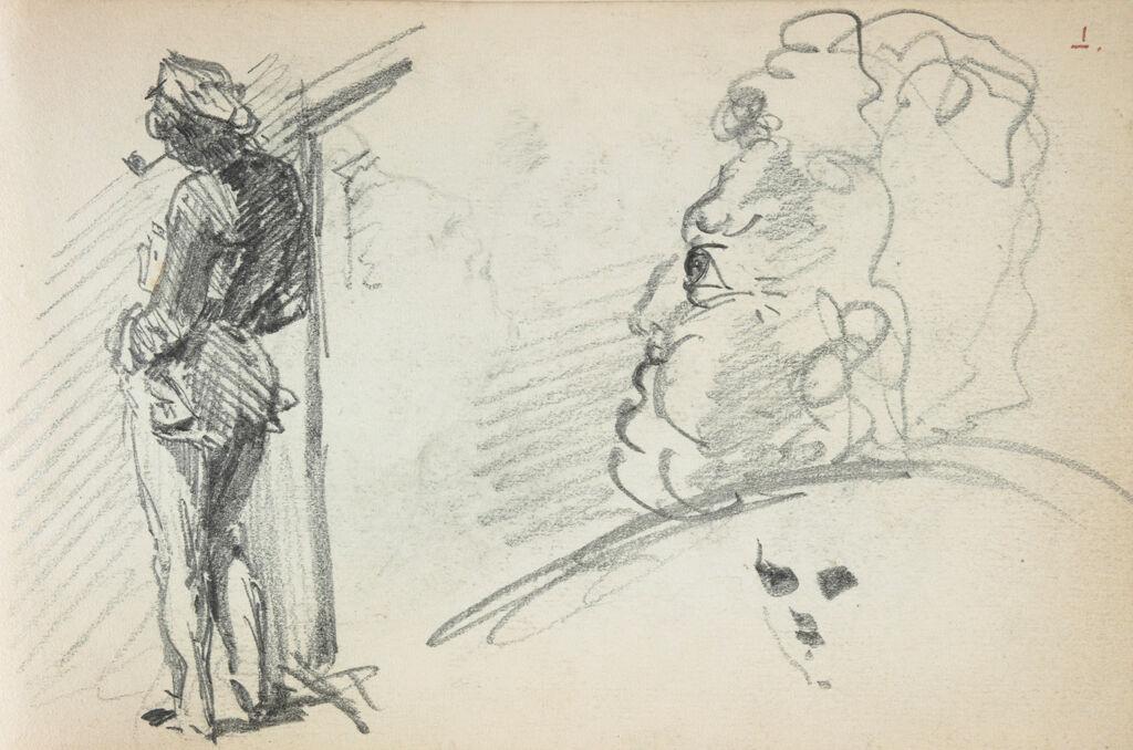 Sketch Of A Man; Caricature Of A Figure