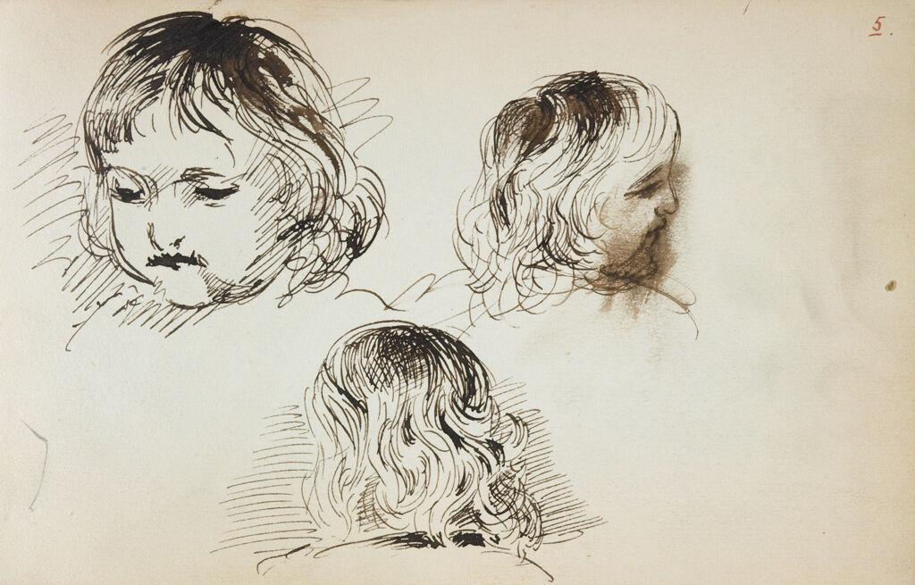 Studies Of A Child's Head