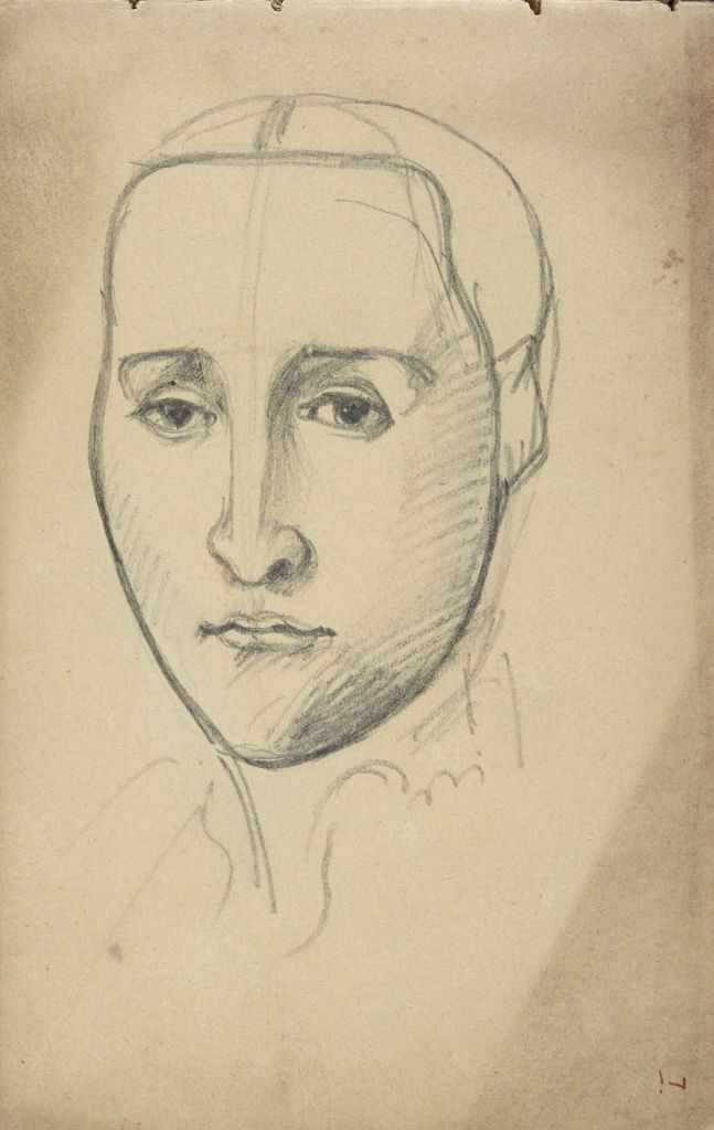 Study Of A Face; Verso: Study Of A Gondolier