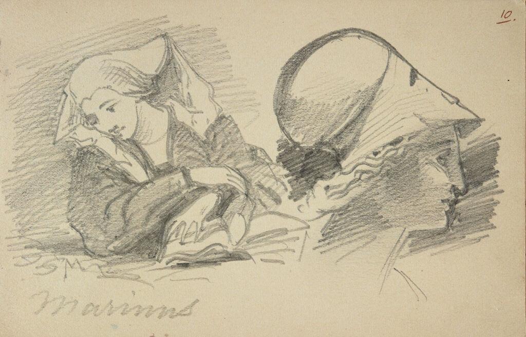 Woman, After Van Reymerswaele; Head Of Pallas Athena