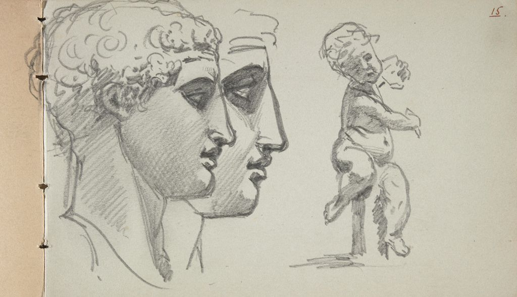 Studies Of The Diadumenos, After The Antique; Study Of Putto