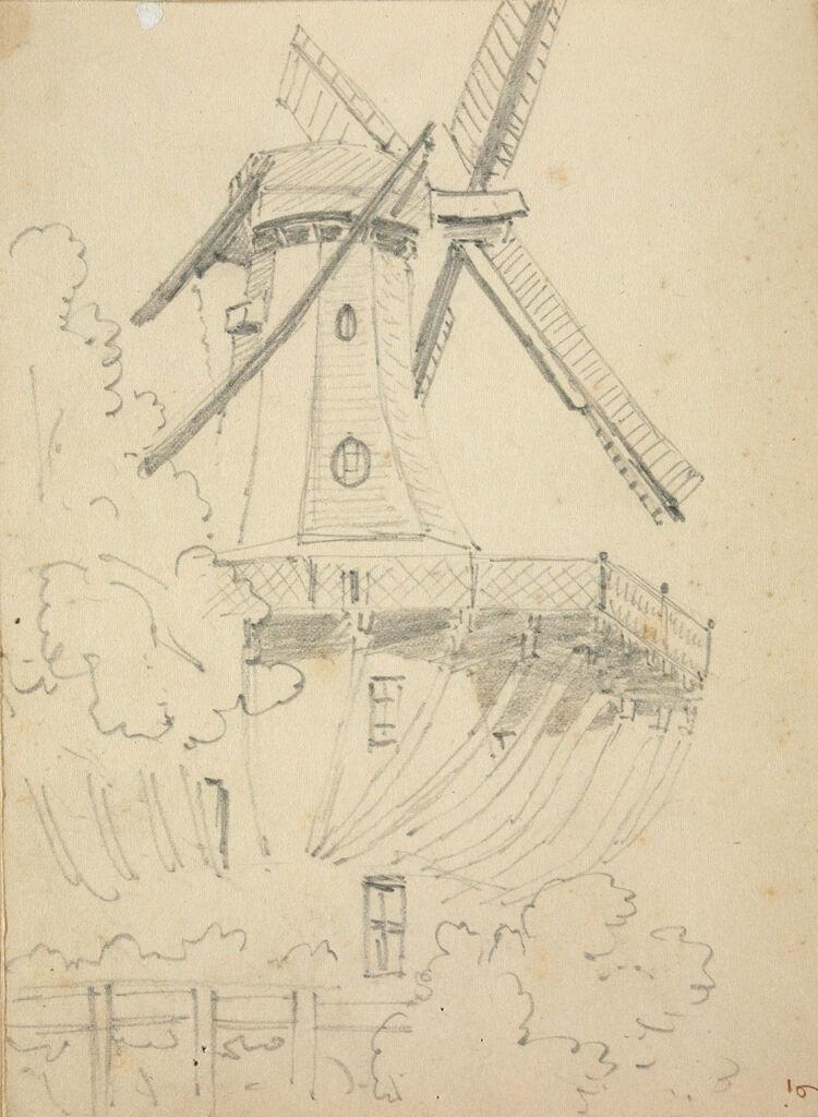 Windmill At Sanssouci; Verso: Landscape