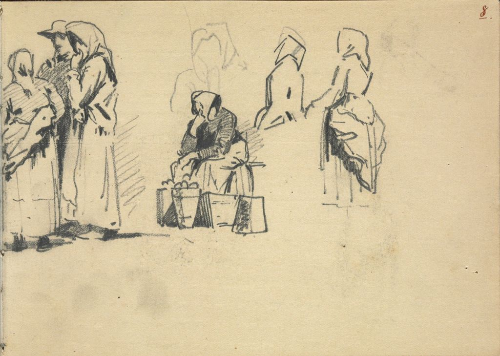 Figures At The Market (Recto And Verso)